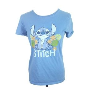 Disney Lilo Stich Adult Unisex Tee Shirt M Blue